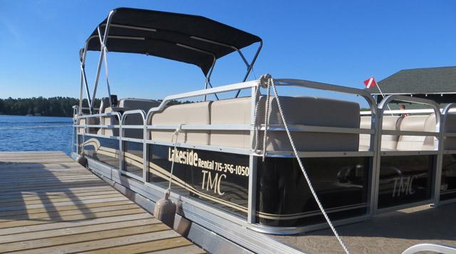 Pontoon Rentals - Minocqua Lakeside Boat Rental, Storage